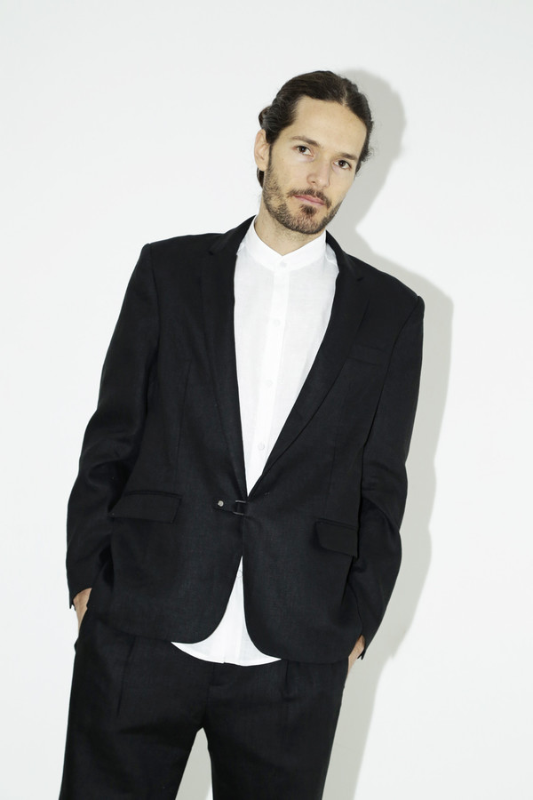 Black Linen Suit Jacket from assembly | Garmentory