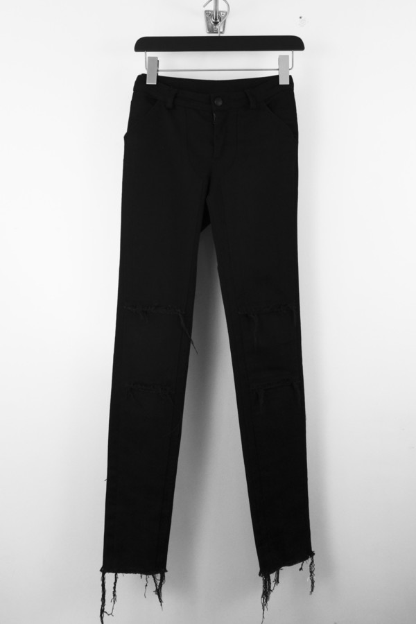 Black Patch Denim