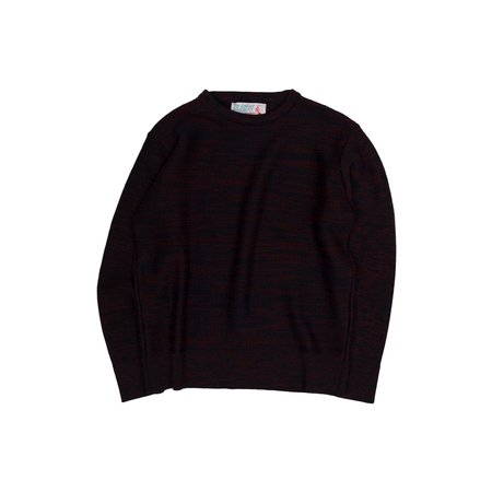 Garbstore The English Difference Crewneck Sweater - Navy/Red