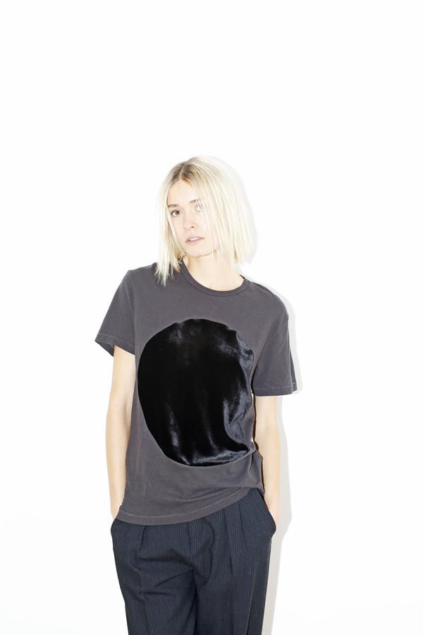 Black Velvet Circle T-shirt