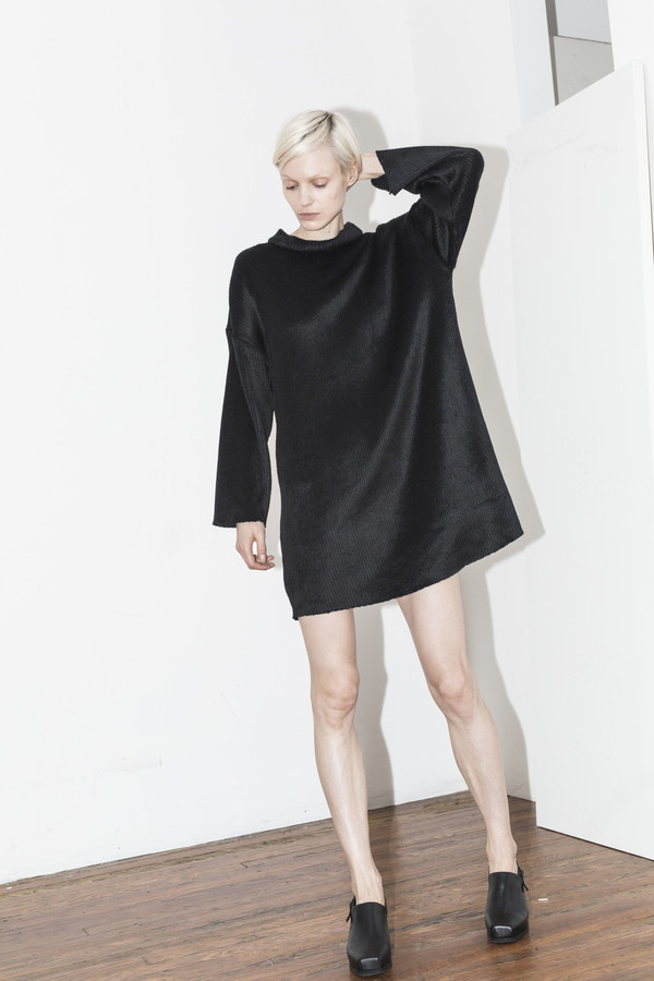 C.F. Goldman Black Sweater Dress