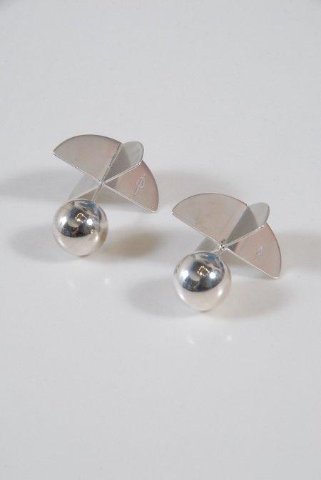 M33Ms Eze Propeller Stud Earrings - Silver