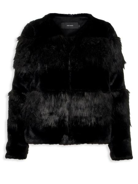 VERO MODA Faux Fur Jacket - black