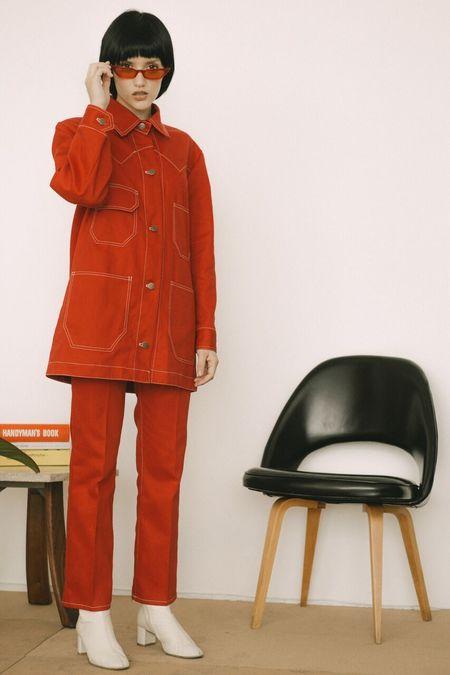 Lykke Wullf Twill Theodore Jacket - Red