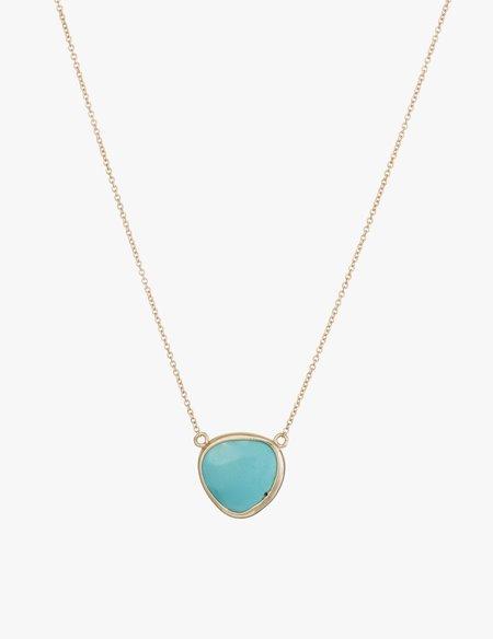 Kathryn Bentley Turquoise Slice Necklace