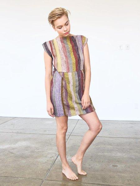 AsA 2-Tier Mini Dress - Striped