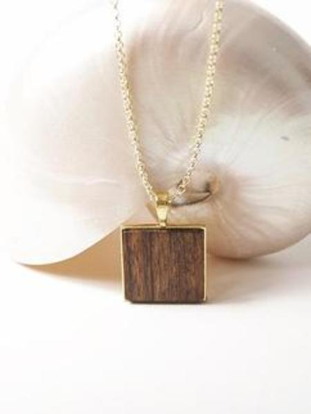 Sophie Monet Square Amulet Necklace - Gold