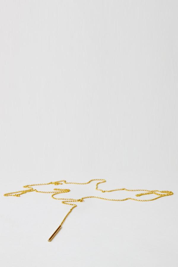 Natasha Wheat Gold Lavalier Necklace