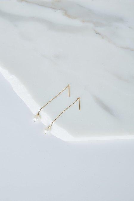 5 Octobre Leandra Threader Earrings - Freshwater Pearl