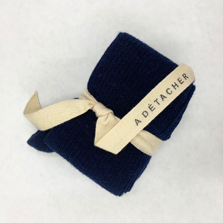 A Détacher TOELESS ALPACA KNEE SOCKS - NAVY