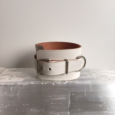 A Détacher LEATHER CUFF - WHITE
