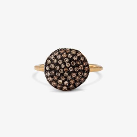 Satomi Kawakita 18k Yellow Gold Brown Diamond Ring