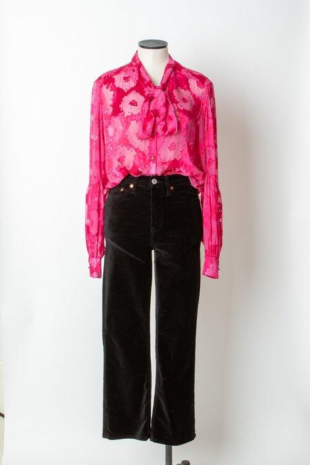 AMANDA BOND Felicia Burnout Blouse - Pink
