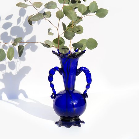 Found By Kindred Black Antiquity Vase - Sapphire