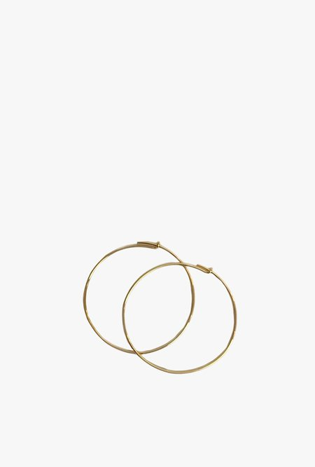 Tarin Thomas Janey Medium Hoop Earrings - 14k Gold Filled/Gold Plated