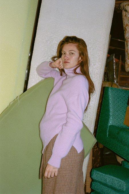 Nanushka Motta Angora Turtleneck Sweater - Lilac