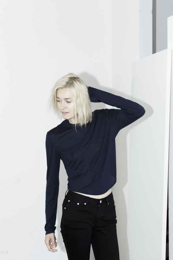 Assembly New York Navy Long-sleeve Top