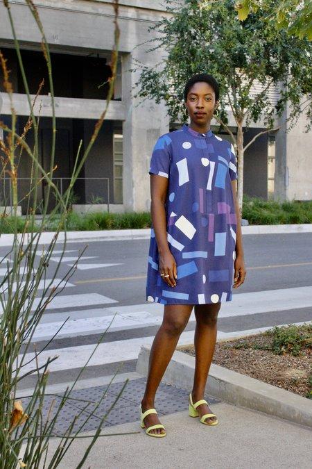Dusen Dusen Oversize Tee Dress - Blue Mobile