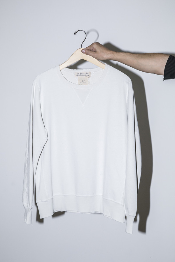 Men's Remi Relief Off White Special Finished Fleece Crew
