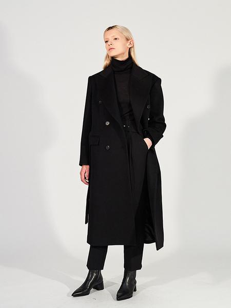 CHAENEWYORK Signature Tailor Oversize Double Breasted Coat
