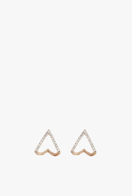 EF Jewelry Diamond Mini Chevron Huggie Earring P