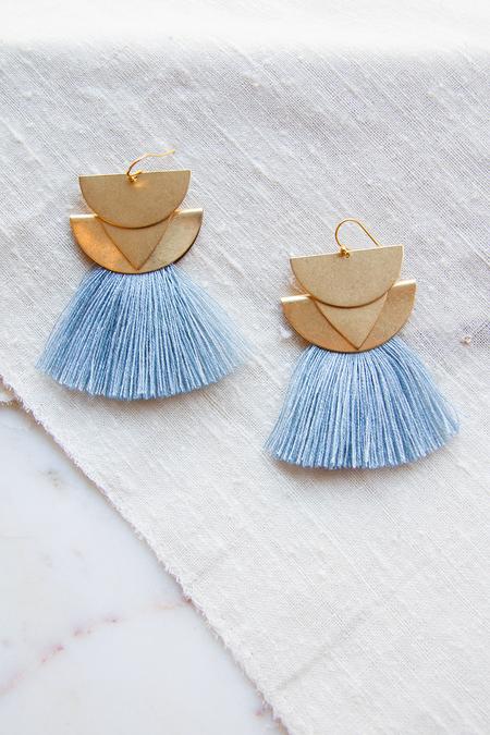 Sandy Hyun Diamond Canyon Earrings - Pale Blue