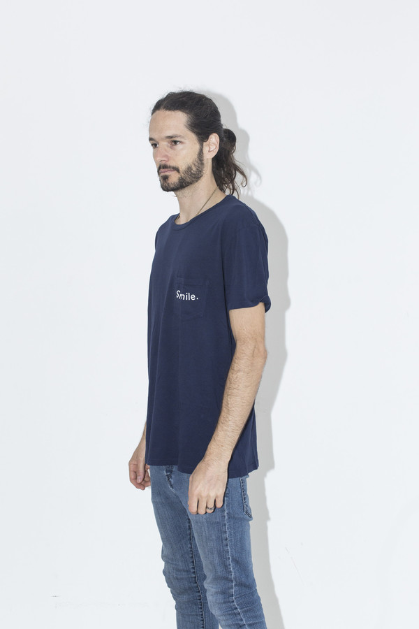 Men's Quality Peoples Navy Smile Tee