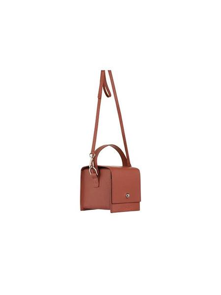 VINTAGE IRIDESCENCE NEW YORK DUMBO Leather Handbag Cross Body - Rosewood