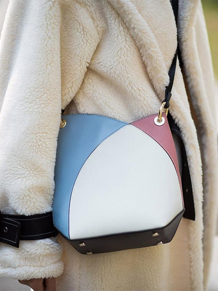 INCOMPLETE Intersection Series Cross Body Bag - Beige/Light Blue