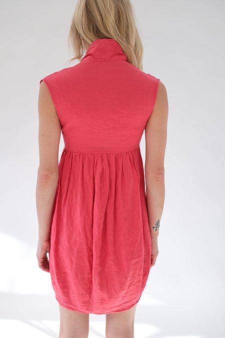 Beklina Vintage Tie Dress - Red