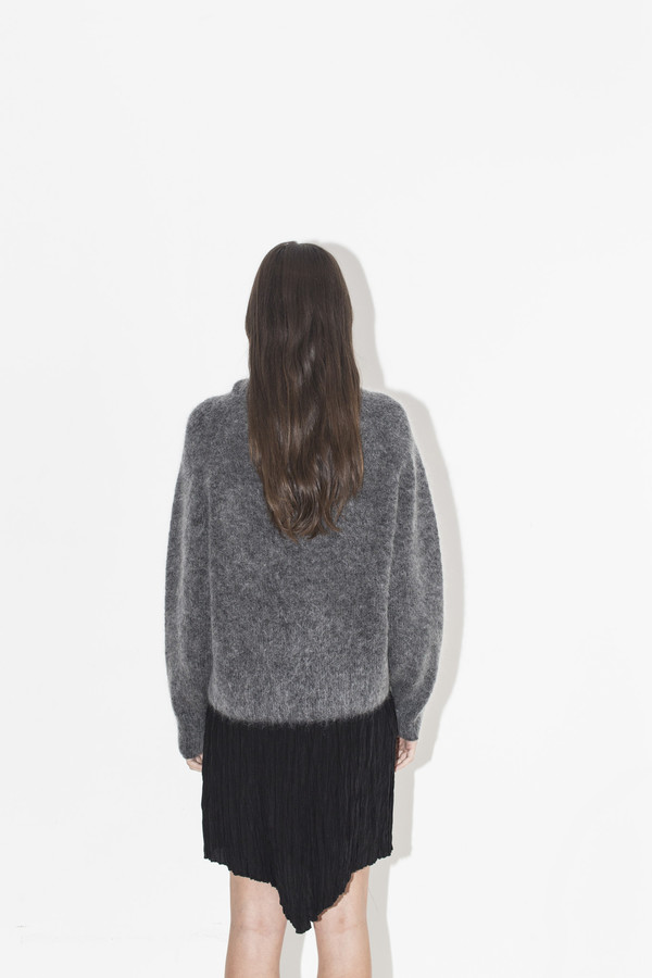 Sayaka Davis High Neck Mohair Sweater