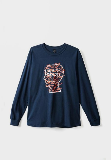 Brain Dead Infected Long Sleeve T-Shirt - Navy