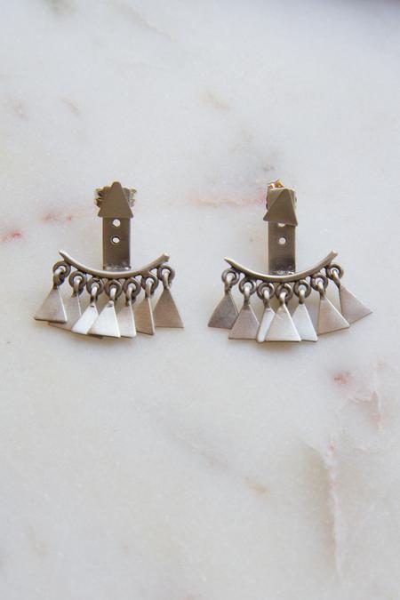 Jane Diaz NY Silver Hugger Earrings