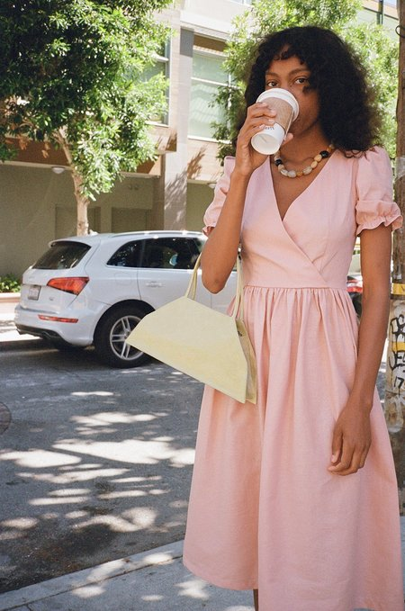 Lisa Says Gah Topanga Midi Linen Dress - Rose