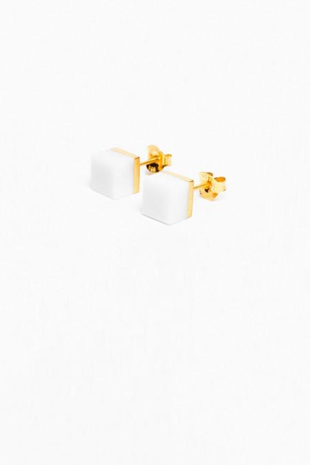 Ming Yu Wang White Agate Cubic Earring