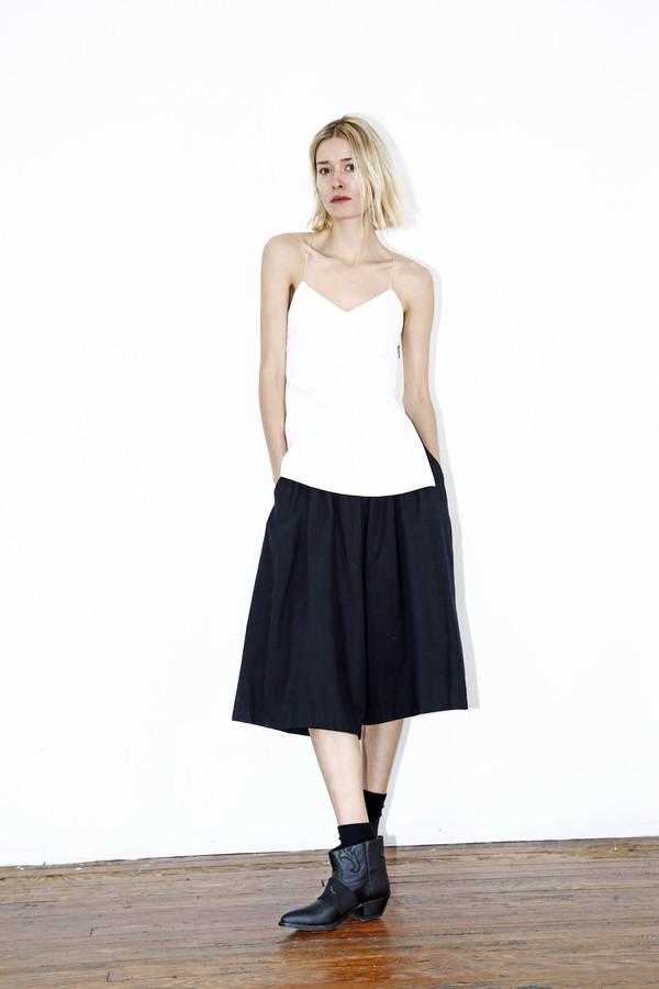 White Denim Camisole Top