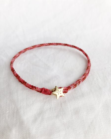 Scosha STAR FISHTAIL BRACELET - Hot pink/Rust
