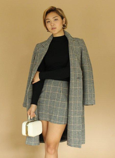 ASTR The Label Wool Kensington Coat - Plaid