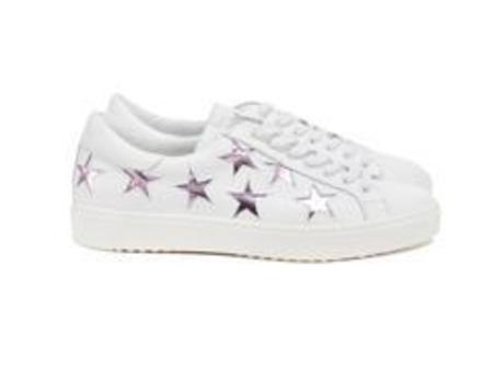 Department of Finery Stella Sneaker - White/Pink Metallic