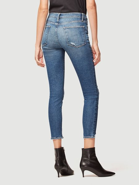 Frame Denim Le High Skinny Front Chew Jeans - Beckinsale