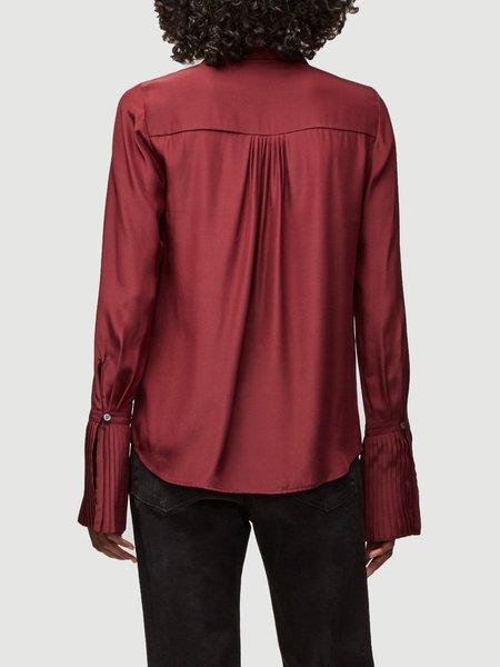 Frame Denim Pintucked Silk Blouse - Off-White