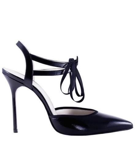 Jessica Bédard Shoes Elle Ankle Tie Pump - Black