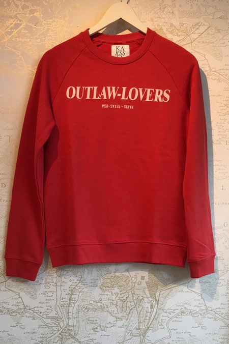 Zoe Karssen Outlaw-Lovers Sweatshirt - Red