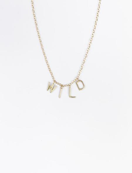 31 Bits WILD Letters Necklace - Gold