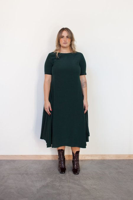RUJUTA SHETH October Flare Dress - Forest
