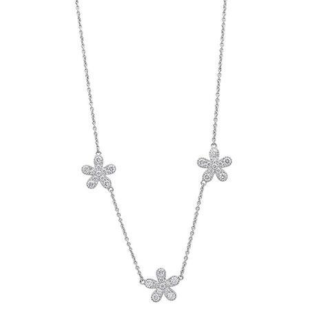 Diamond Dream Signature Collection Flower Diamond Necklace - 18k White Gold