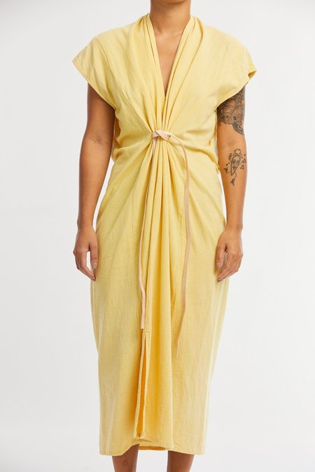 Miranda Bennett Textured Cotton Knot Dress - Osage V.1