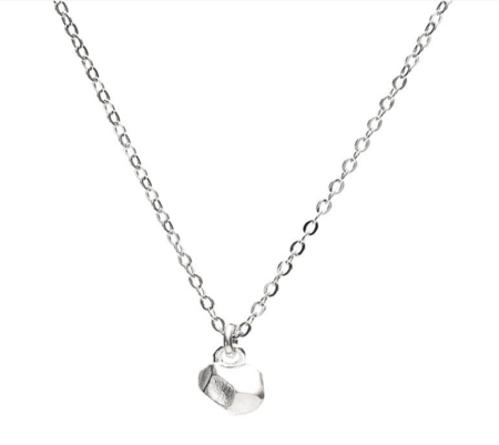 Queen City General Store Tiny Cast Crystal Necklace - Silver