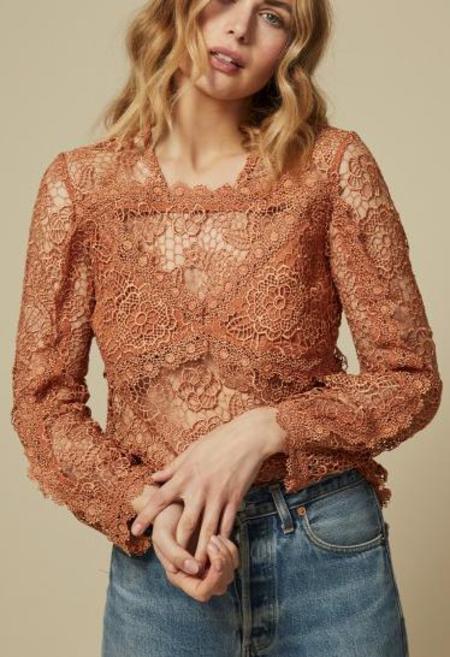 Goldie London Ciara Top - Orange