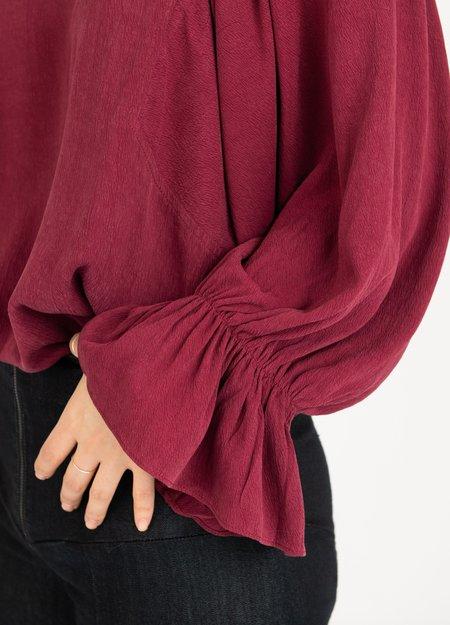Baloot Peasant Blouse - burgundy